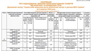 отчет таблица благ-2 кв2020